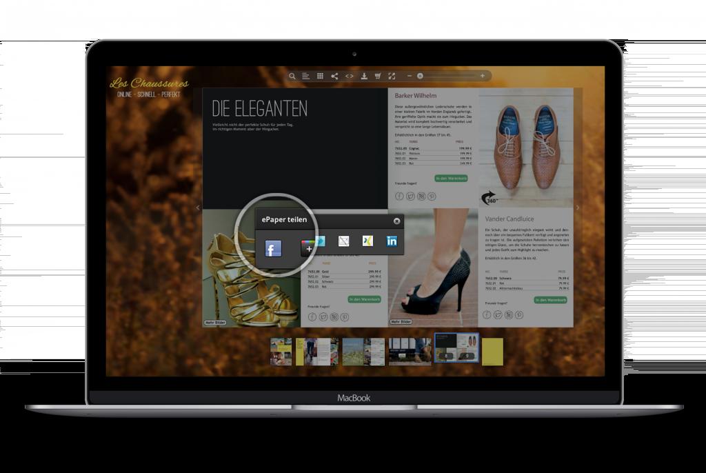 Ihre Leser können (auf Wunsch) ePaper direkt in Facebook, Twitter und Google+ teilen. Damit erreichen Sie noch mehr potenzielle Kunden.