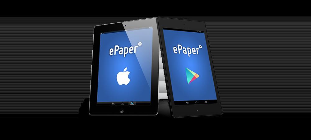 Die 1000°ePaper Demo App im App Store und auf Google Play
