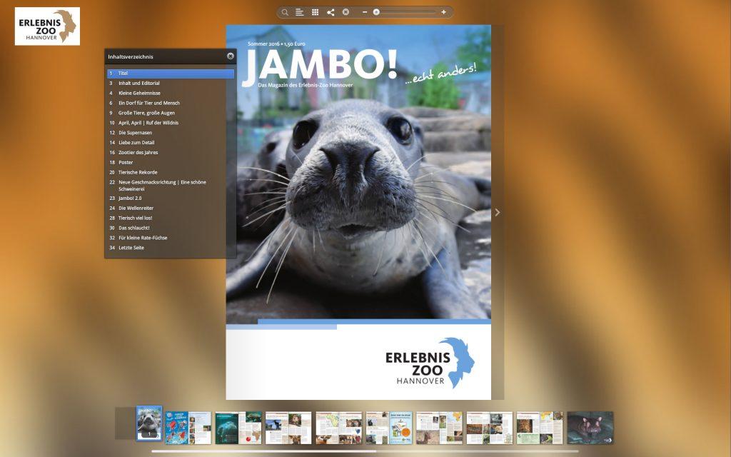 Jambo als ePaper-Magazin