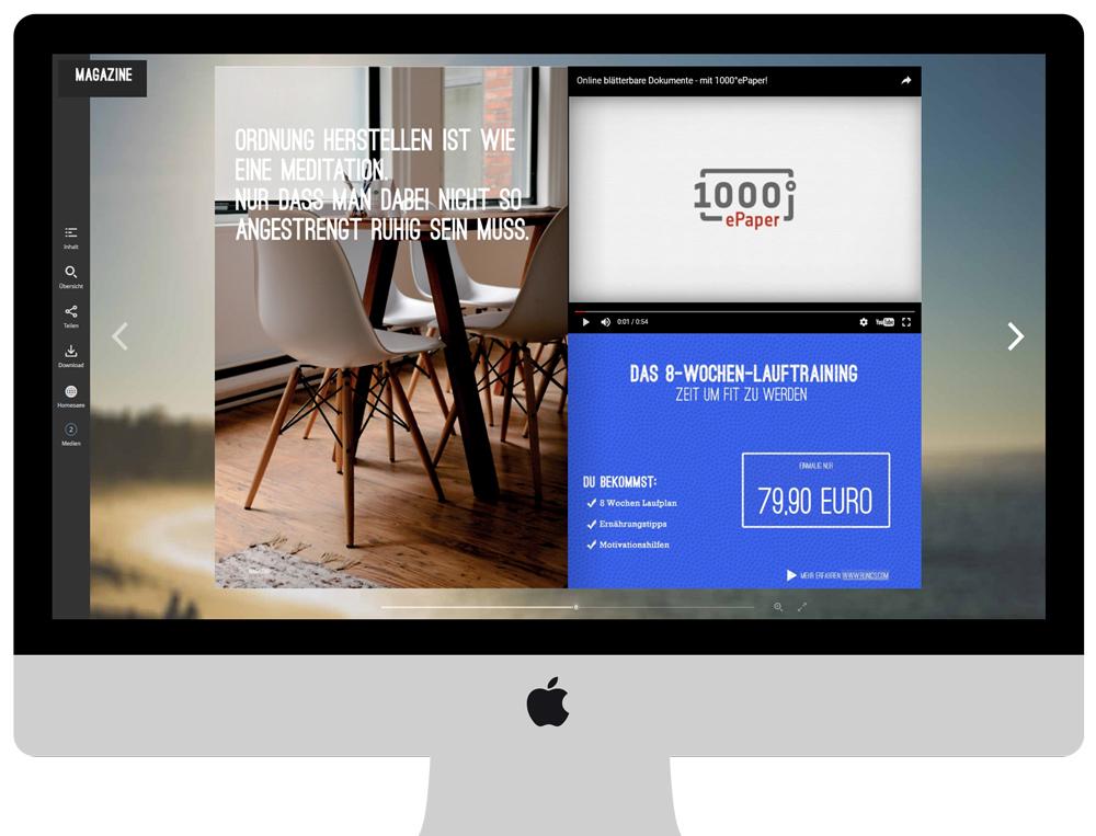 Reichern Sie Ihr ePaper visuell und inhaltlich zusätzlich an, indem Sie Videos von YouTube, Vimeo oder vom eigenen Server einbinden.
