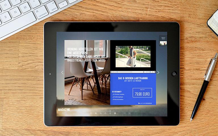 Kompliziertes einfach darstellen – Mit integrierten Videos im 1000°ePaper Partner und Mitarbeiter begeistern.