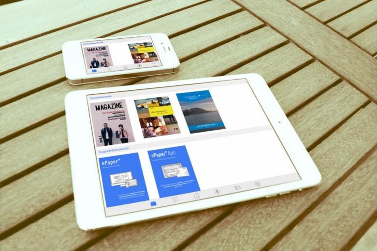 Geschäftsberichte und Mitarbeiterzeitschriften in einer 1000°ePaper App