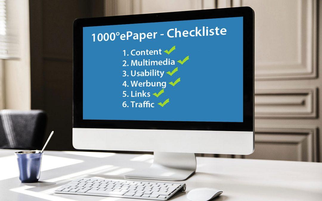 Mit unserer Checkliste optimieren Sie Ihre digitale Publikation