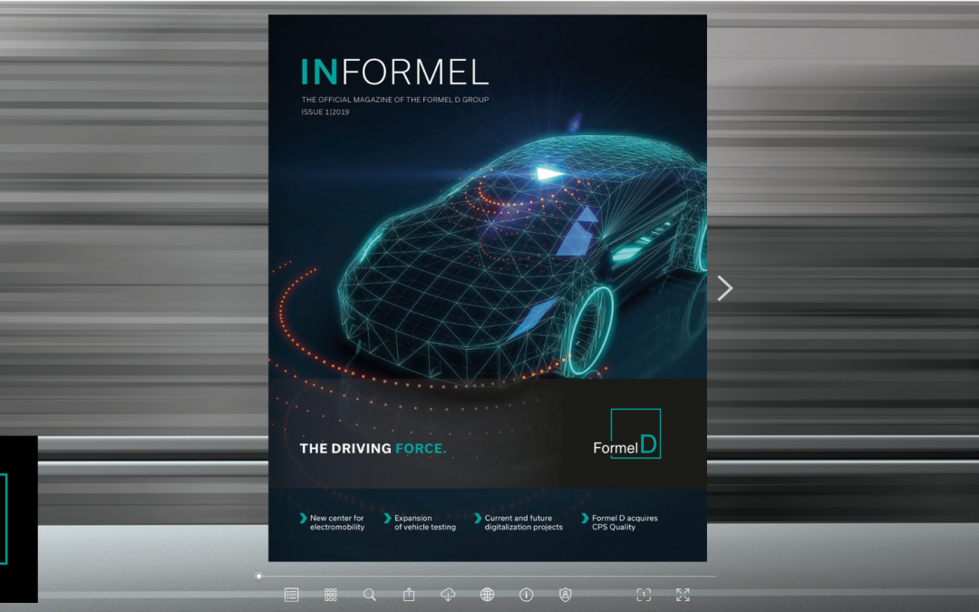 Referenz: Digitales Kundenmagazin von Formel D