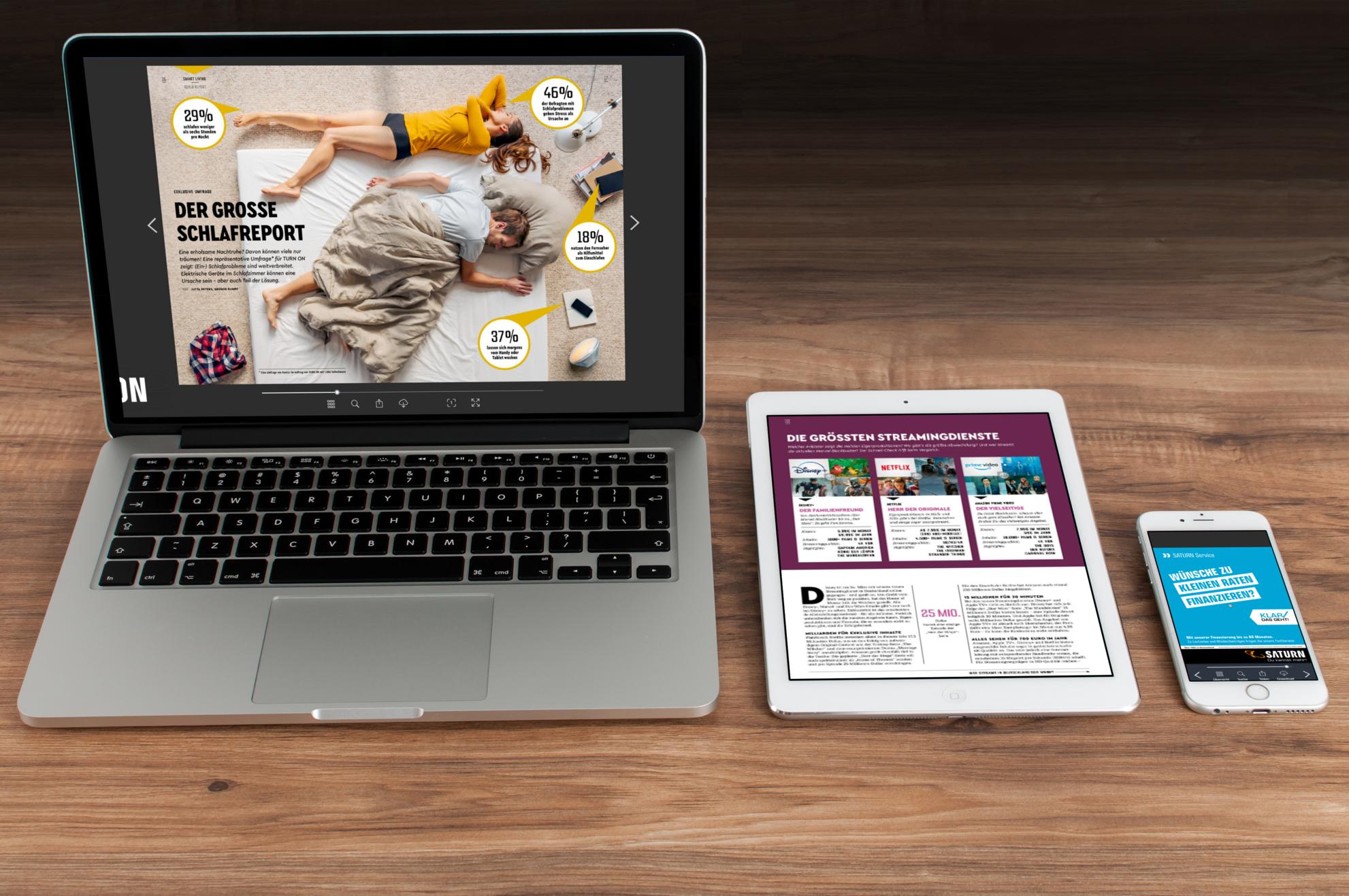 Corporate Publishing mit einem ePaper auf verschiedenen mobilen Endgeräten