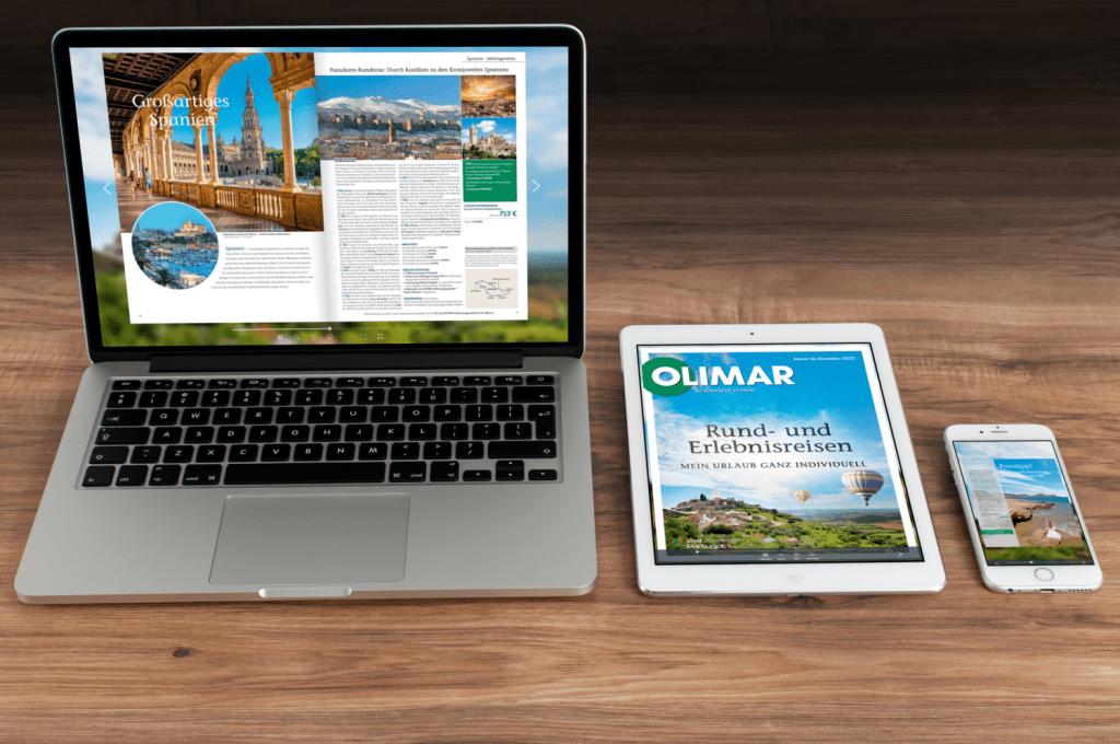 Digitale Reisekataloge von allen mobilen Endgeräten nutzen
