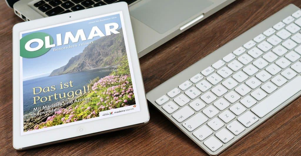 Digitale Reisekataloge von OLIMAR Reisen als Referenz