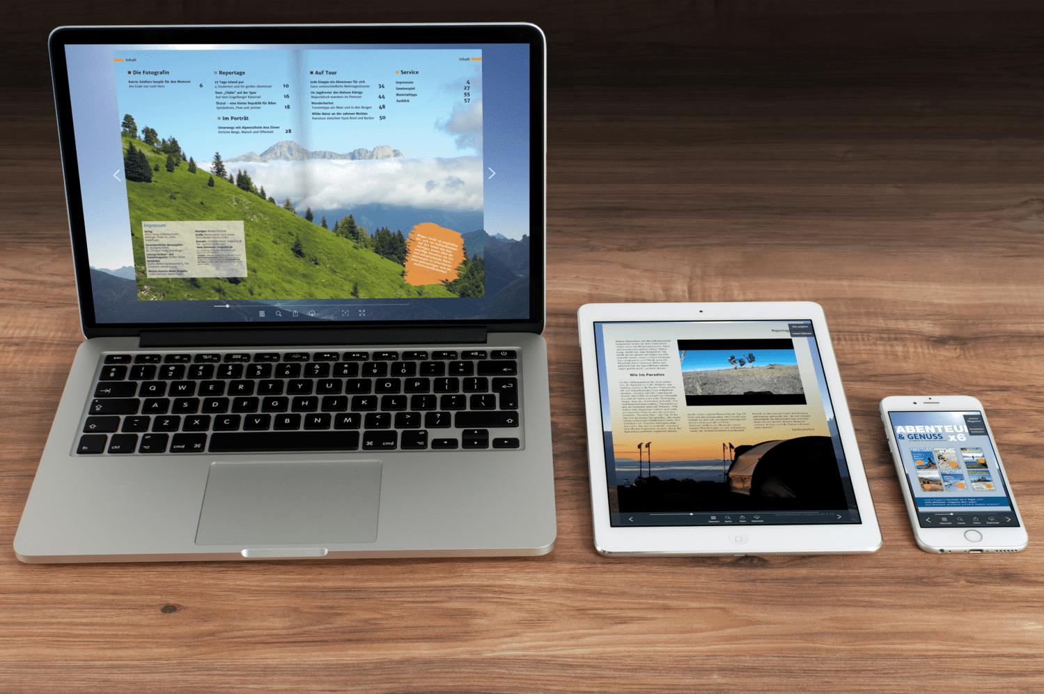 PDF zum Blättern auf mobilen Endgeräten