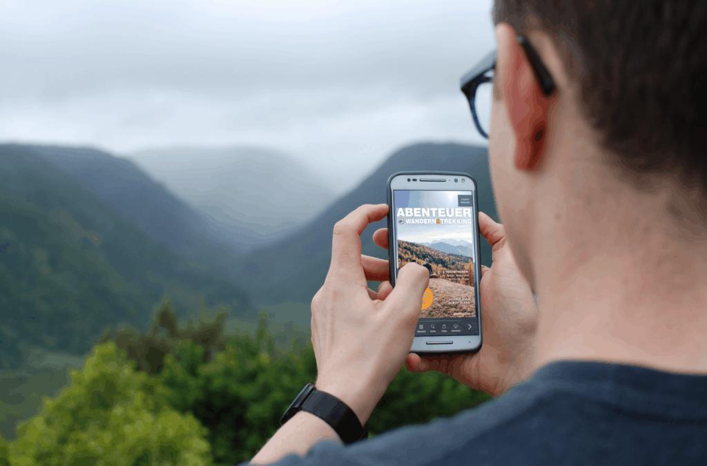 """Das interaktive Online-Magazin """"Abenteuer Wandern & Trekking"""" als 1000°ePaper"""