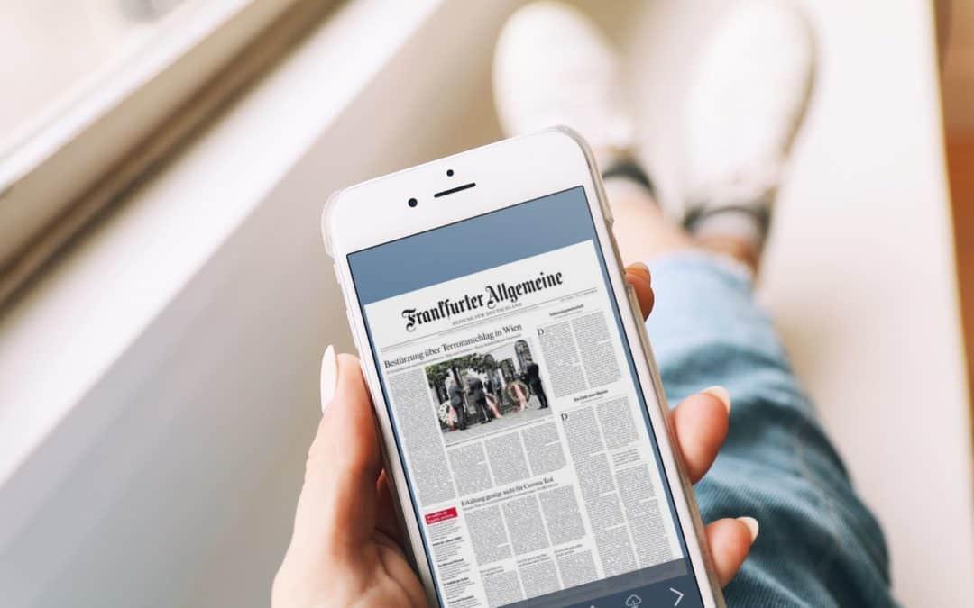 ePaper mit Rekordauflagen – Wie Corona die Digitalisierung im Zeitungsgeschäft vorantreibt