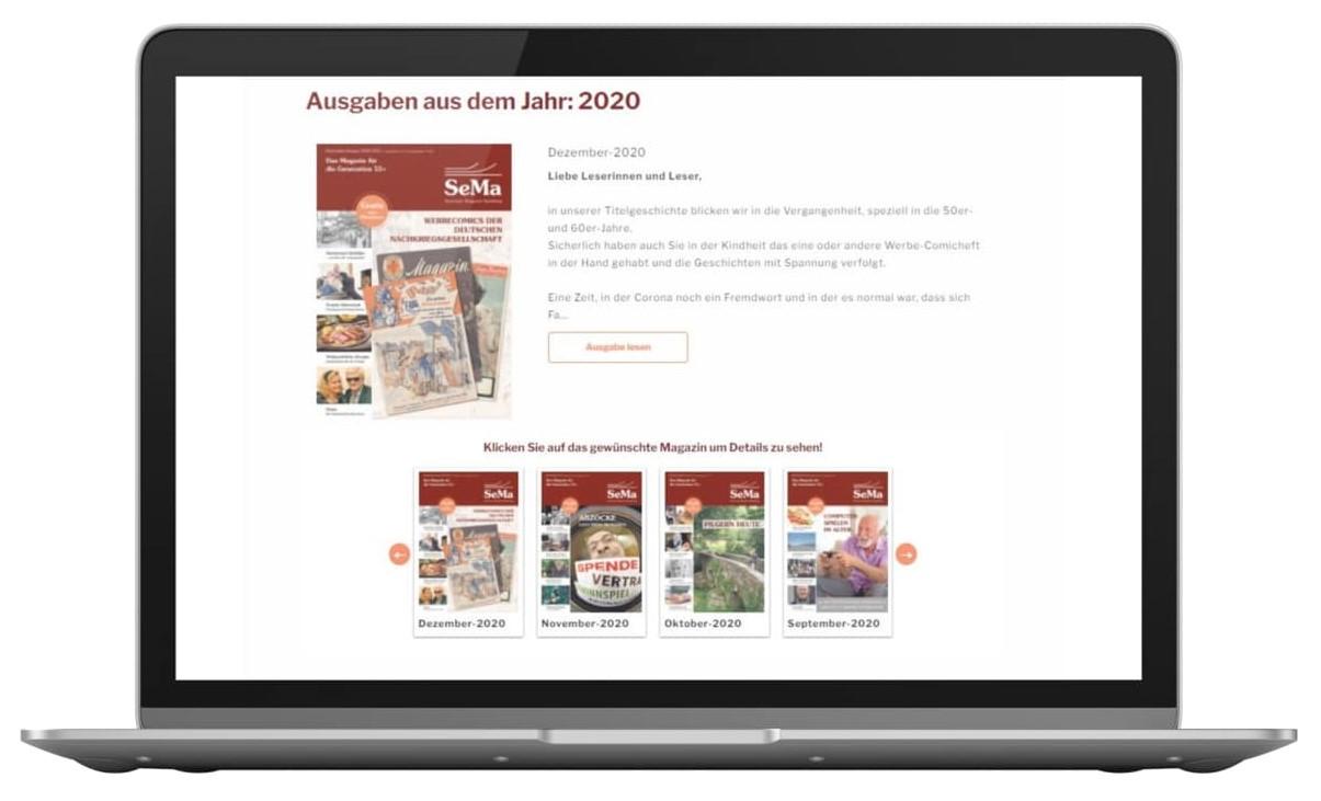 ePaper Kiosk Beispiel Senioren Magazin